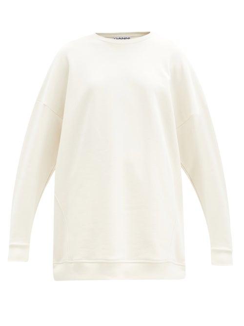 Ganni - Software Recycled Cotton-blend Sweatshirt - Womens - Cream