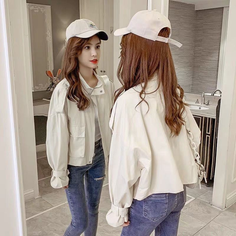 瑞希女裝「工裝短外套」2020年新款女裝寬松bf風 小個子短款顯瘦氣質洋氣風衣潮