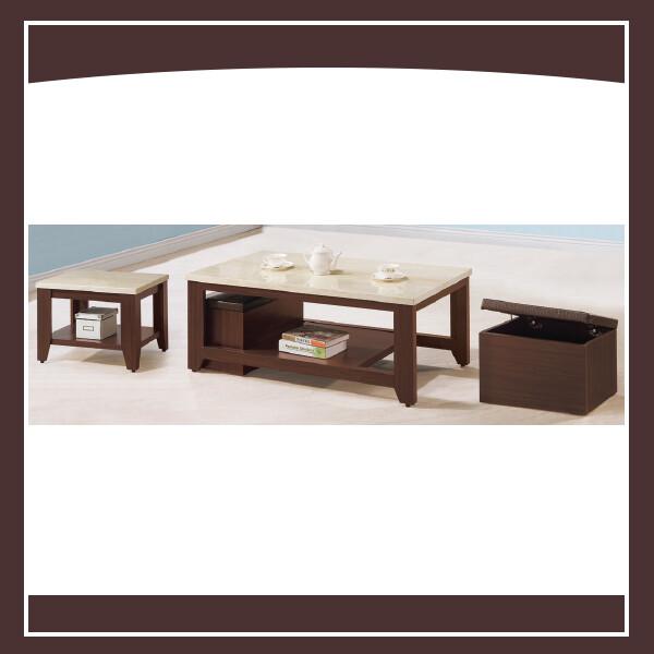 胡桃仿石面12160茶几(全組)(含椅) 21102616030
