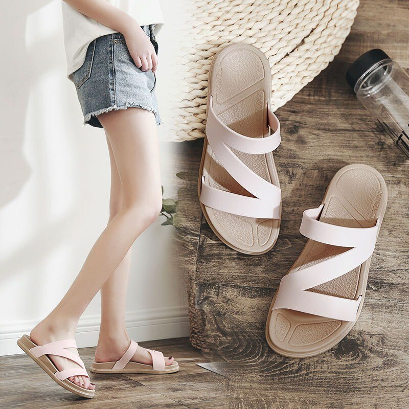 拖鞋女夏外穿時尚百搭網紅涼拖鞋學生女士潮家居室內家用防滑