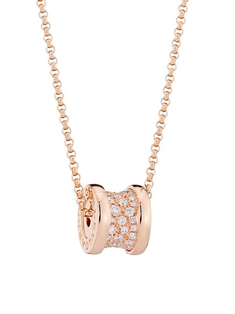 B.zero1 18K Rose Gold & Pavé Diamond Necklace