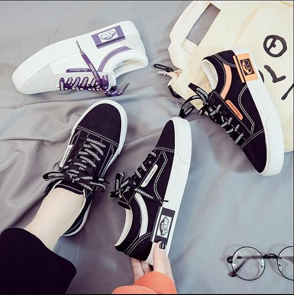 布鞋 2020秋季新款帆布女鞋百搭學生黑色布鞋秋鞋休閒板鞋