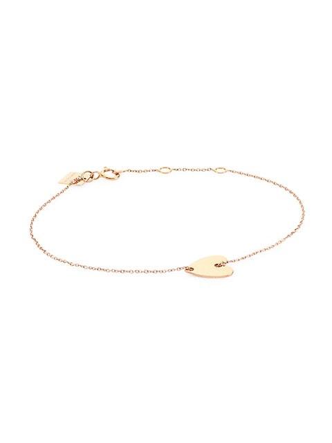 Angele 18K Rose Gold Mini Heart Bracelet