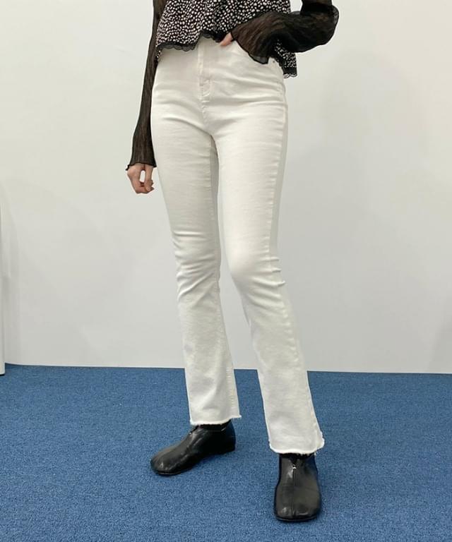 韓國空運 - Nikki Flared banded cotton trousers 長褲