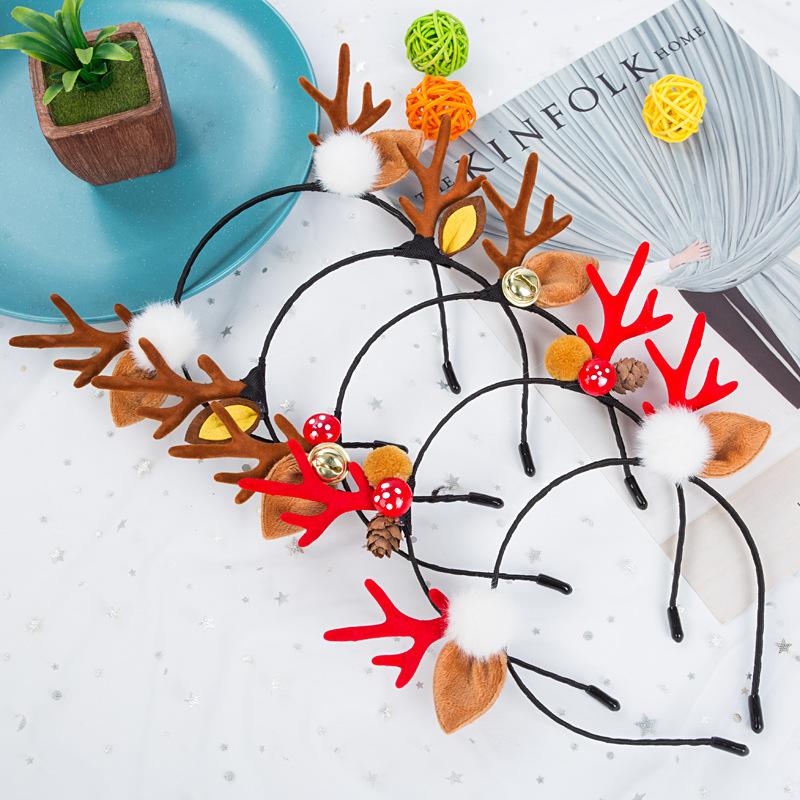 【Dukie】熱賣聖誕飾品頭飾現貨 聖誕髮箍新款飾品頭飾森女系女鹿角髮箍髮卡可愛兒童成人髮飾頭箍