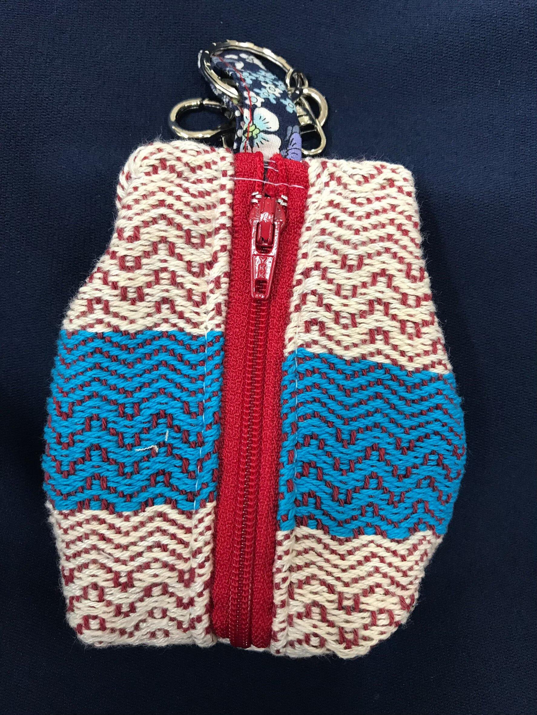 原住民織布/賽德克織布/鑰匙零錢包 (10*8cm)