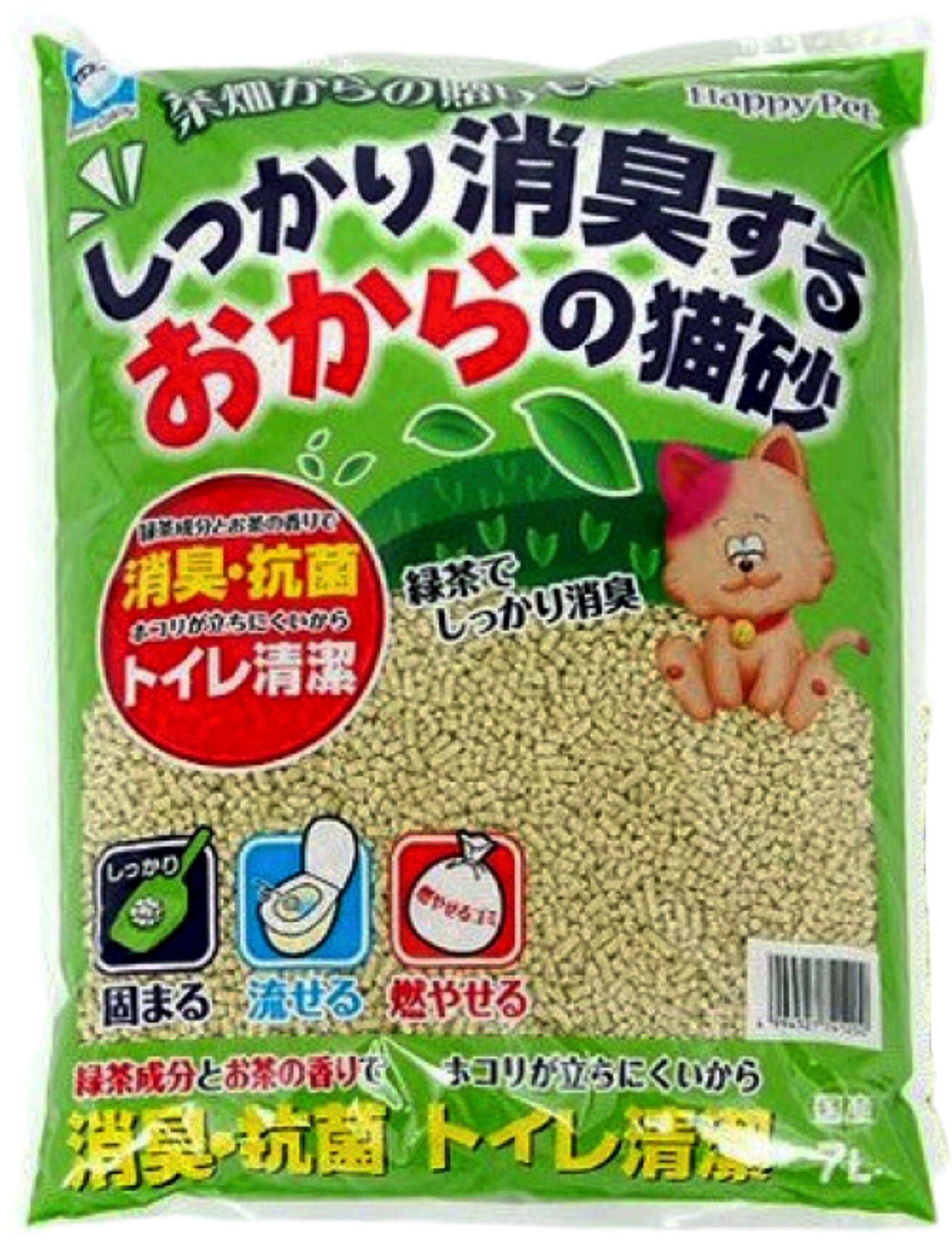 日本製 大塚綠茶豆腐砂 綠茶貓砂 綠茶砂 可沖馬桶 7L