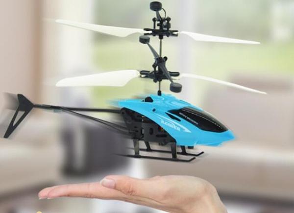 遙控飛機 智能感應飛行器直升機懸浮手控發光遙控飛機耐摔兒童男孩玩具【快速出貨八折搶購】