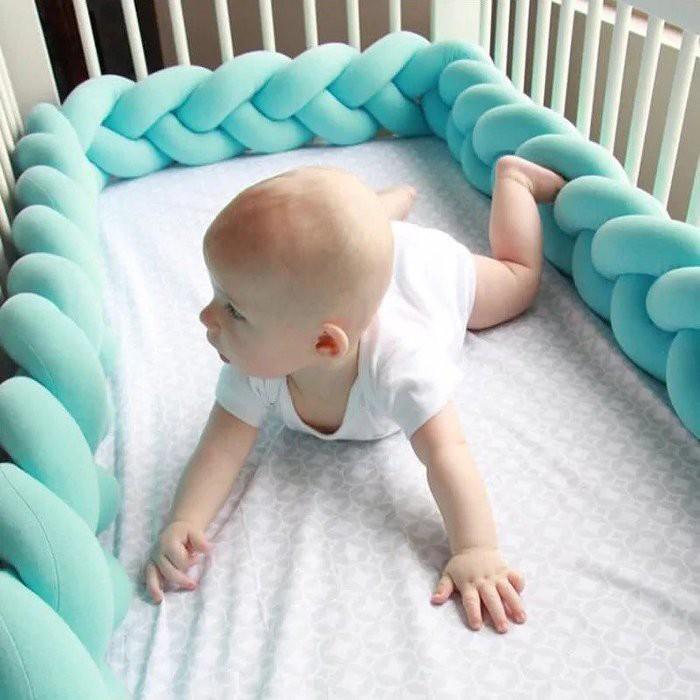 北歐 丹麥 編織長條打結球 防撞邊條 嬰幼兒 嬰兒床防撞床圍 沙發枕抱枕 嬰幼兒 裝飾擺飾靠枕