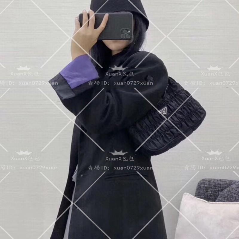 頂級原單 Prada普拉達新款包包 Nylon皺褶Hobo手拎包 腋下包 斜背包 手提包