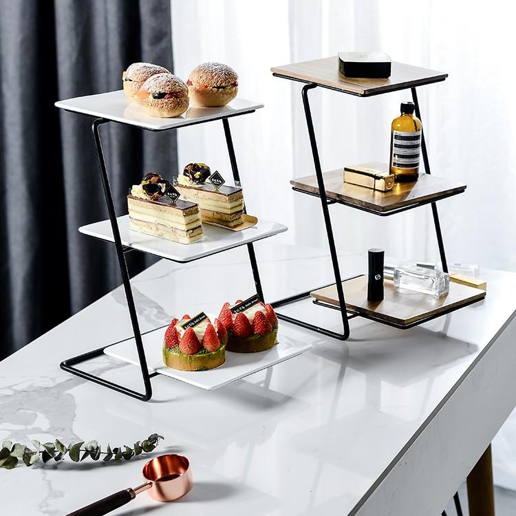 蛋糕架 三層鐵藝蛋糕架下午茶點心架水果盤蛋糕盤甜品台擺件婚禮生日裝飾