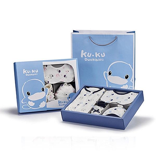 KUKU 酷咕鴨 夢想氣球包巾禮盒-7件組-2色可選【佳兒園婦幼館】