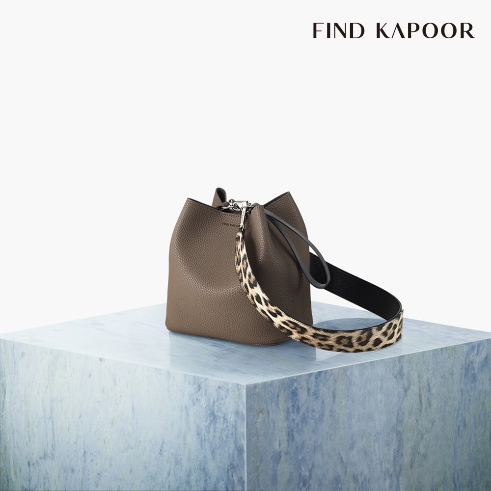【FIND KAPOOR】PINGO 20 BASIC 豹紋系列 手提斜背水桶包-可可色<台灣總經銷 公司貨>
