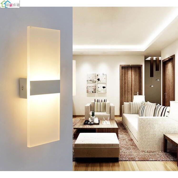 壁燈 led壁燈 床頭燈 臥室現代簡約客廳樓梯間過道陽台走廊燈 方形牆壁燈 現貨 小仙女