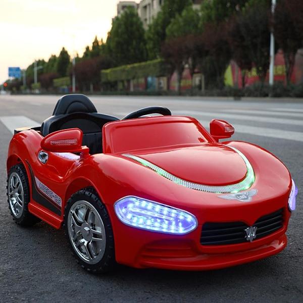 電動車 電動車四輪帶搖擺汽車小孩車子充電網紅車玩具車可坐人遙控車TW【快速出貨八折搶購】
