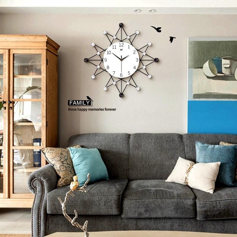【免運費】北歐時尚鐘表掛鐘墻上免打孔客廳家用裝飾時鐘創意現代簡約靜音鐘