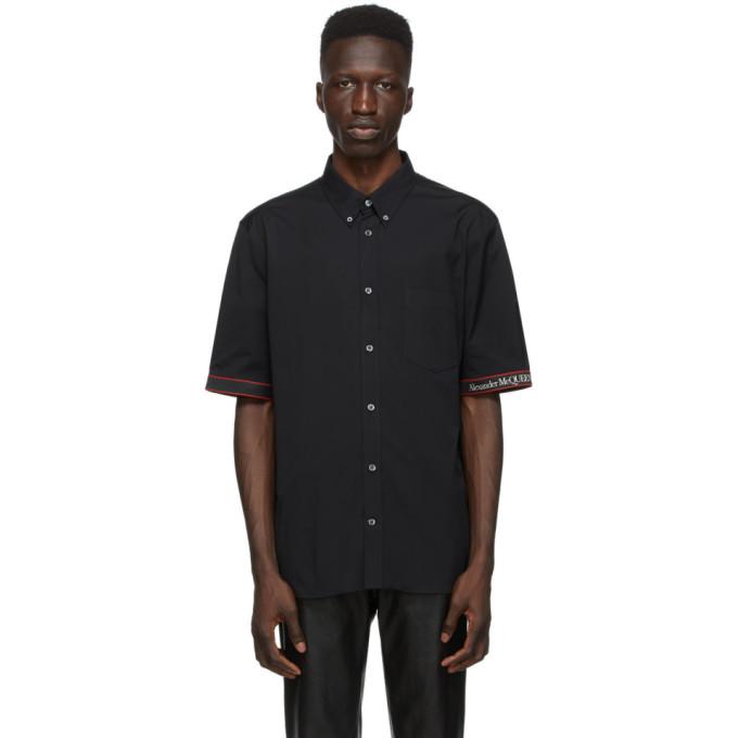 Alexander McQueen 黑色徽标短袖衬衫
