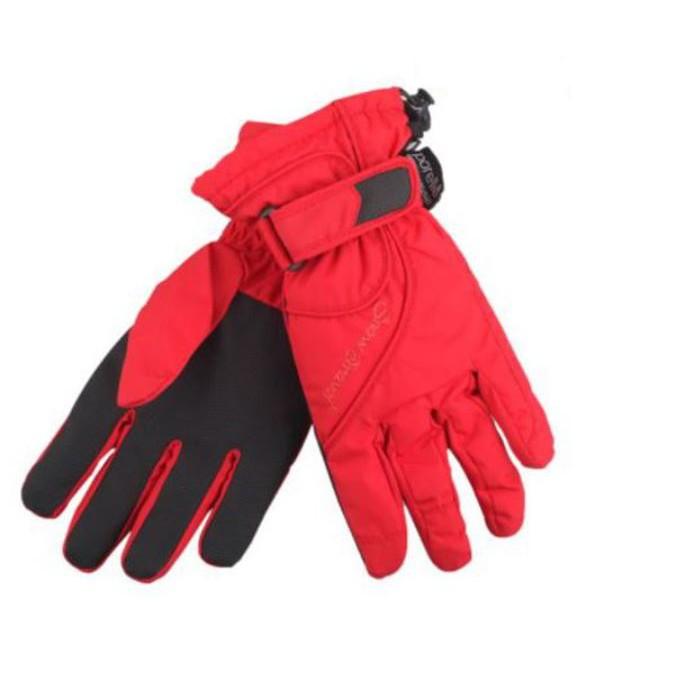 【SNOW TRAVEL 雪之旅】PORELLE防水透氣薄手套AR-52紅色 防風手套/保暖手套/爬山/旅遊/野雁戶外