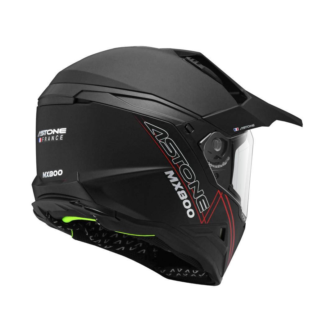 ASTONE MX800 安全帽 素色 消光黑 全罩式 越野式 安全帽 內墨鏡 快拆式帽舌 《淘帽屋》