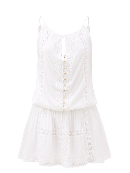 Melissa Odabash - Chelsea Broderie-anglaise Mini Dress - Womens - White