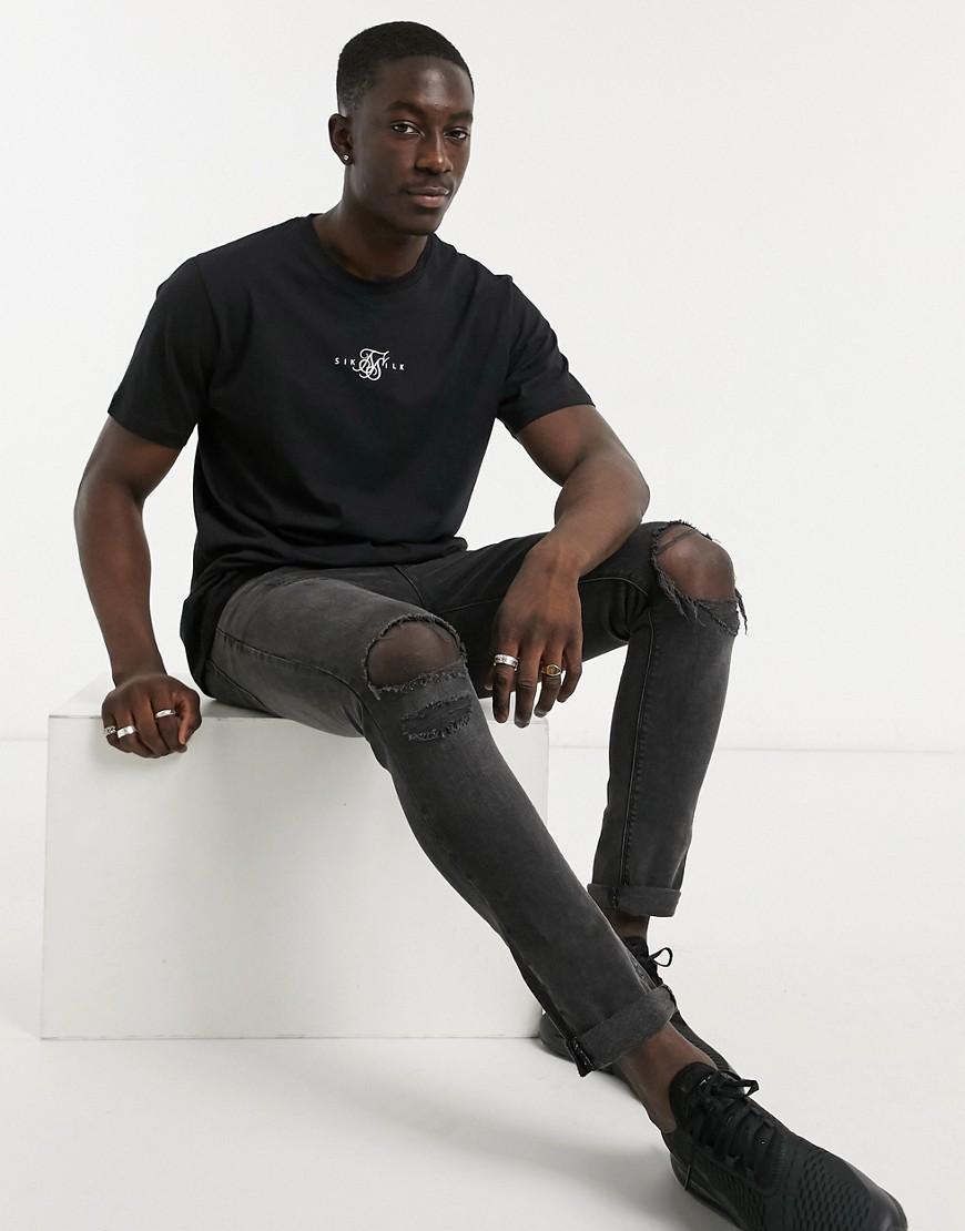 SikSilk essential t-shirt in black