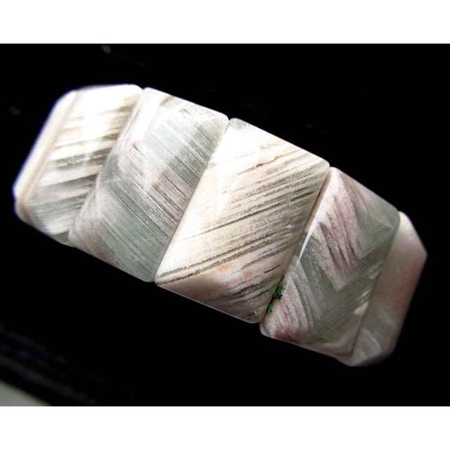 超寬版超美冰透天然水晶罕見立體千層白幽靈手排手牌手鍊手串手鏈手環極美AAA級24mm/89.7g珠寶首飾寶石