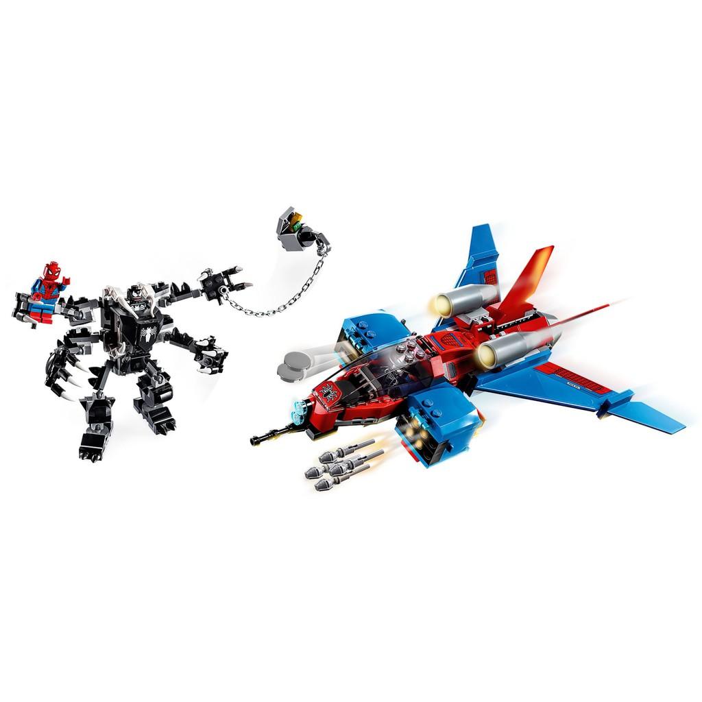 [7-8]兼容樂高超級英雄蜘蛛俠噴氣機大戰毒液機甲76150積木玩具11500