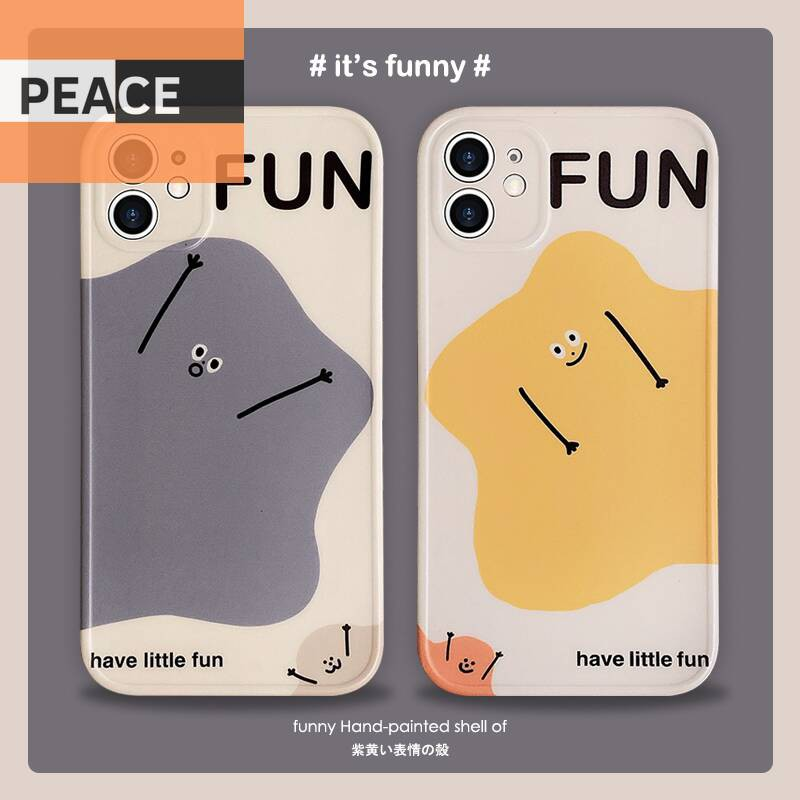 ins韓風表情iPhone11手機殼xsmax硅膠7plus防摔外殼x個性適用于蘋果xr情侶8p可愛卡通11p