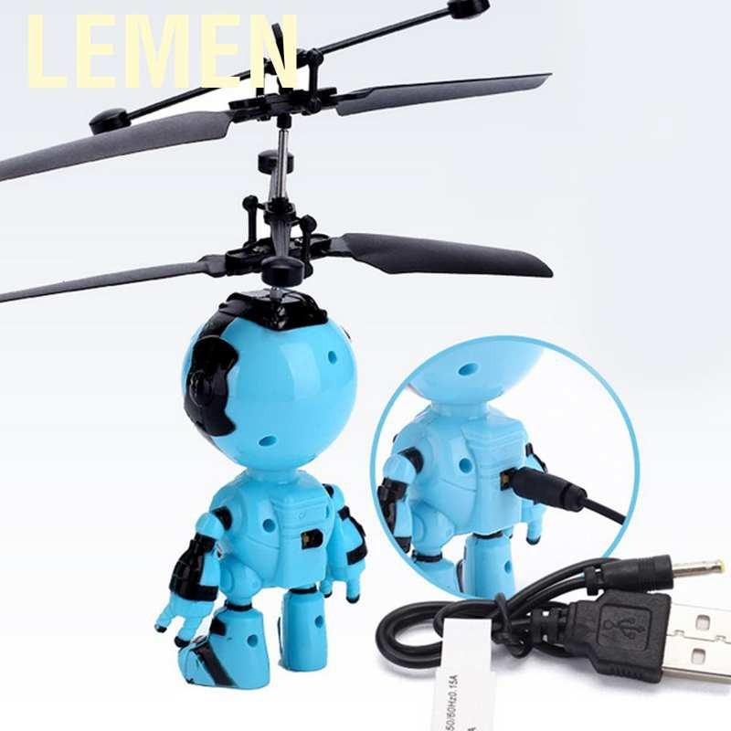 Lemen可愛的電動飛行機器人紅外感應懸浮飛機玩具