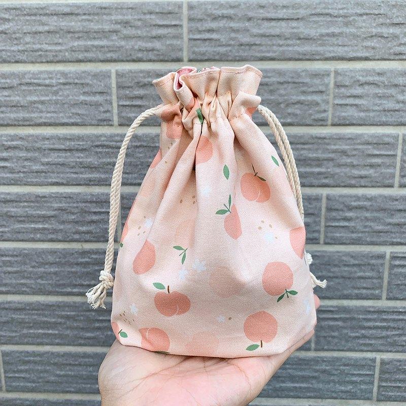 粉色蜜桃 束口袋 雜物收納袋