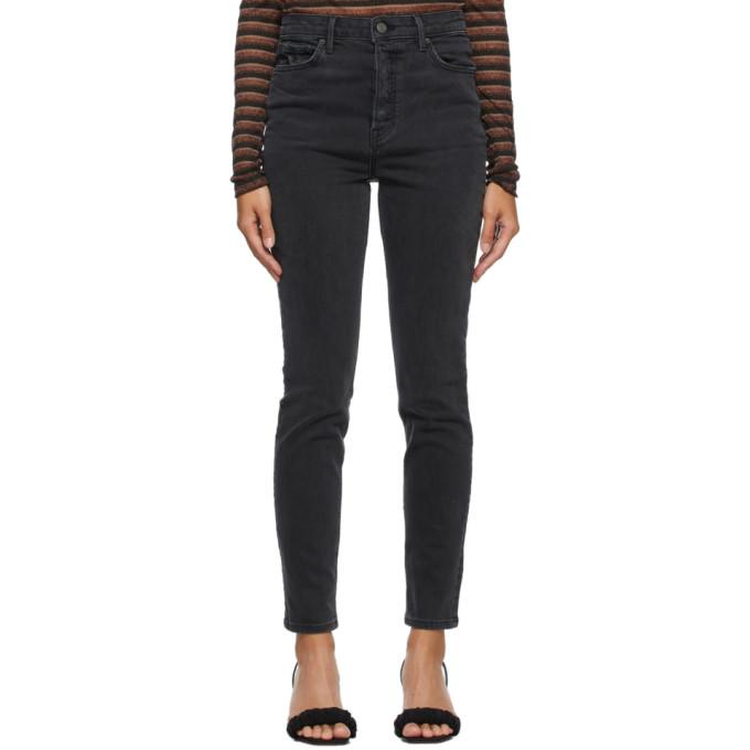 Grlfrnd 黑色 Karolina 高腰牛仔裤