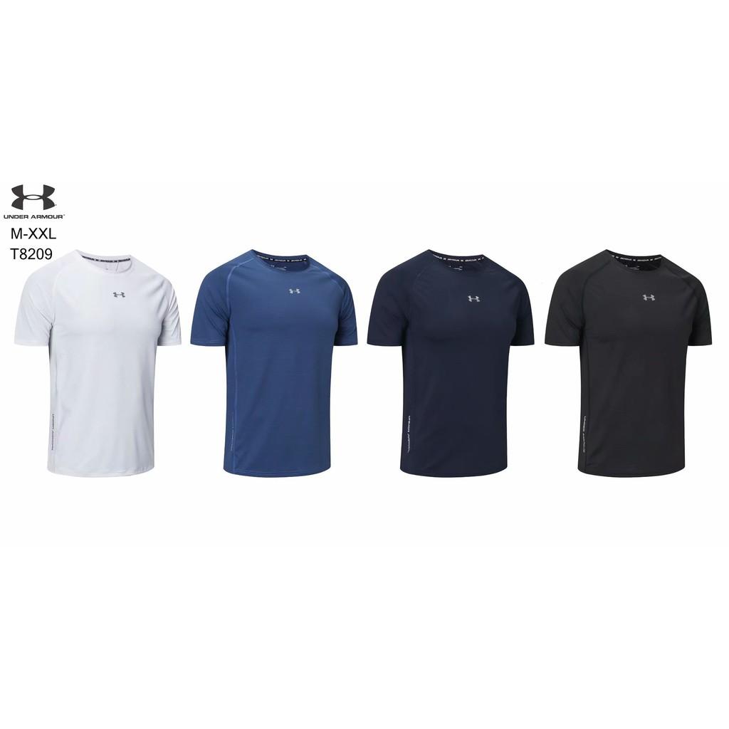 UA短袖 安德瑪T恤 圓領短T 健身 簡約 透氣 休閒 男士休閒短袖 排汗 微彈 柔軟 舒適 運動跑步 吸汗速乾 訓練