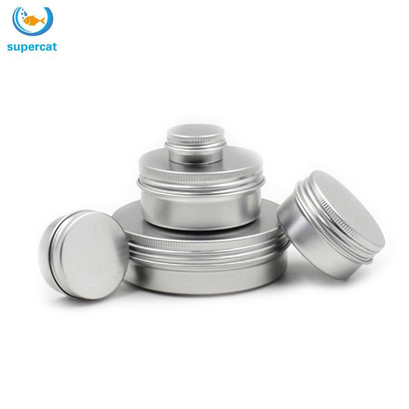 10PCS新型鋁製唇膏罐化妝品化妝霜罐罐瓶容器