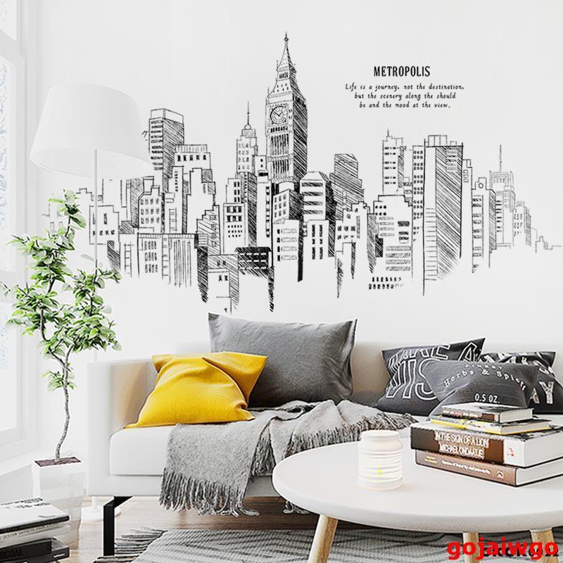 S&H家居 創意客廳沙發背景墻面裝飾貼紙ins北歐個性臥室床頭墻壁自粘墻貼墻貼 牆貼 壁紙 DIY組合裝飾佈置 壁紙 加