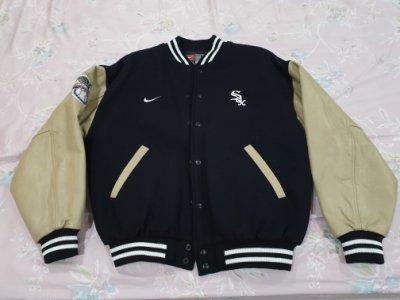 Nike MLB Chicago White Sox Jacket 芝加哥白襪隊 皮袖 羊毛 棒球外套 NBA NFL