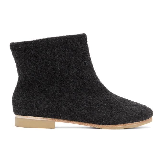 Lauren Manoogian 黑色羊驼毛踝靴