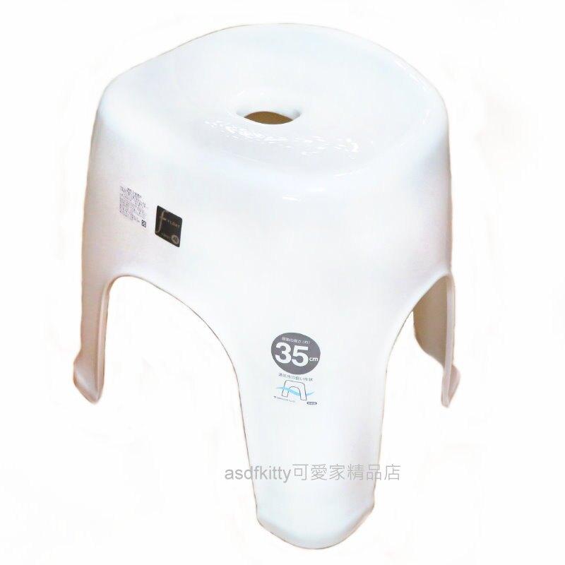 asdfkitty*日本製 白色沐浴專用35公分安全坐椅/防滑洗澡椅-高度易於起坐-銀離子抗菌材質