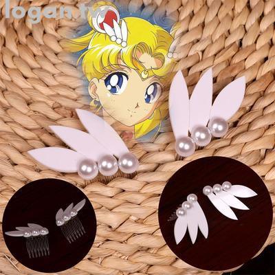 [周邊]美少女戰士小小兔水冰月COS道具配件飾品假發三葉頭飾
