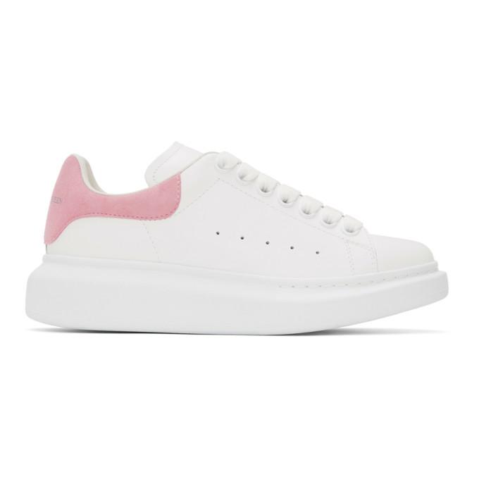 Alexander McQueen SSENSE 独家发售白色阔型运动鞋