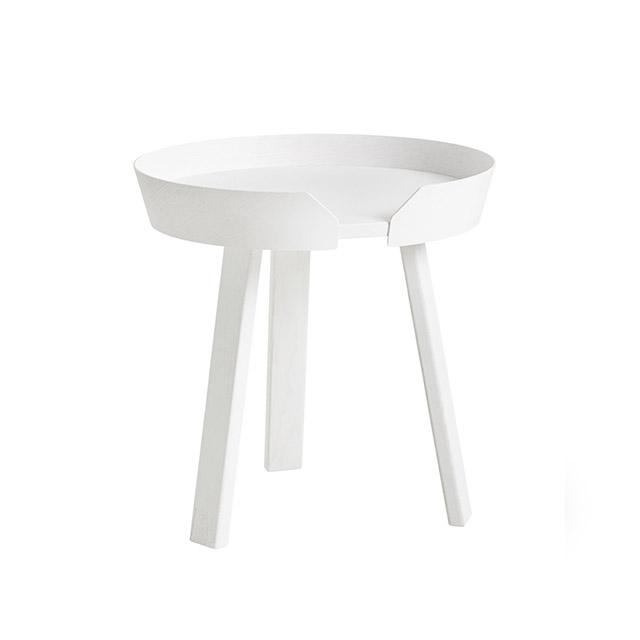 Muuto Around Coffee Table 45cm 三角圓塔 木質 咖啡邊桌 小尺寸(白色)