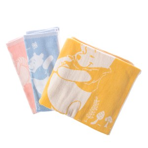 HOLA 迪士尼系列維尼緹花毛巾浴巾組