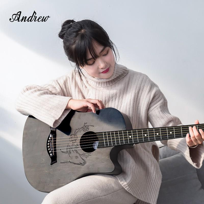 【熱銷】Andrew安德魯民謠吉他初學者學生成人新手入門38寸41寸男女生樂器