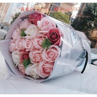 現貨手捧花玫瑰小花束香皂花母親節禮物 生日禮品 聖誕禮物