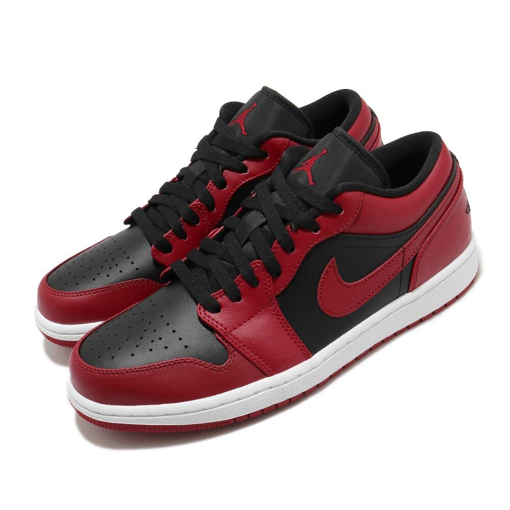 NIKE 558606 休閒鞋 Air Jordan 1 男鞋 低筒 喬丹 Reverse Bred 黑 紅 [553558-606]