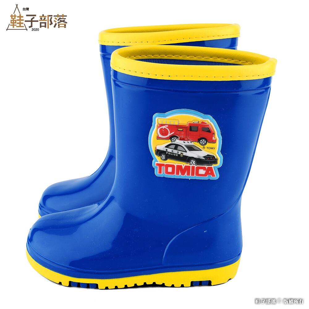 鞋子部落 警車x消防車 兒童雨靴 tomica多美小汽車 tm7785