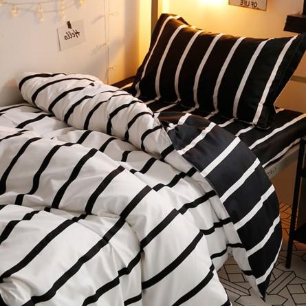 日系格子 簡約 格子床包4件套(床包+被套+枕套一對)單人/雙人/加大雙人/特大雙人 ikea床墊尺寸