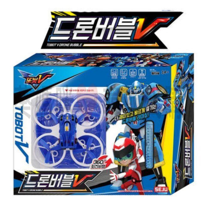 可超取韓國境內版 tobot v 宇宙奇兵 機器戰士 燈光 遙控 無人 直升機 吹泡泡 泡泡機 無人機 玩具遊戲