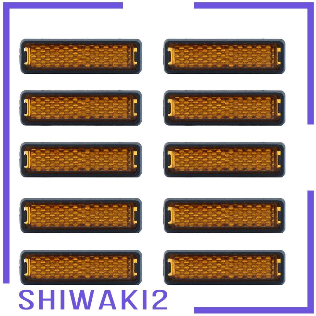 [Shiwaki2] 10 件自行車腳踏板反光鏡自行車自行車夜間警示燈led