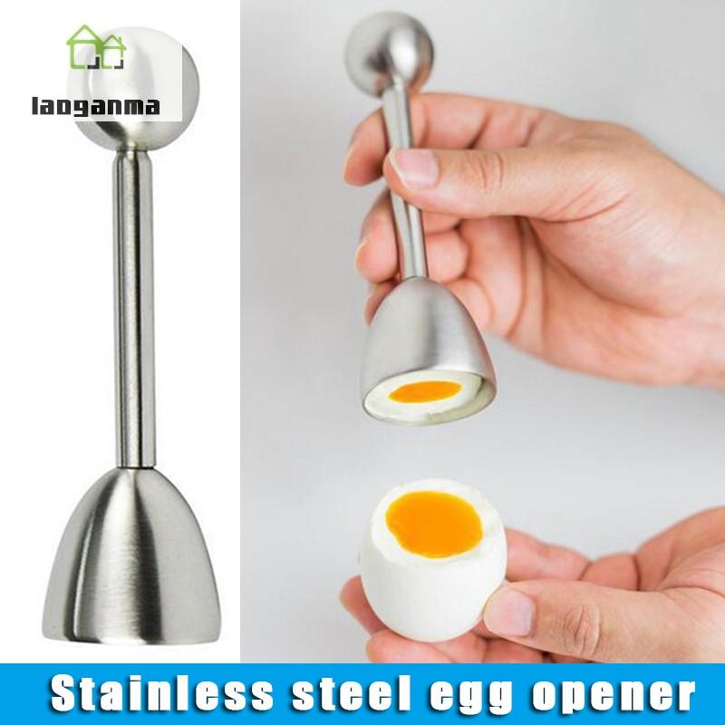 雞蛋禮帽不銹鋼廚房工具, 用於切割蛋殼開啟器