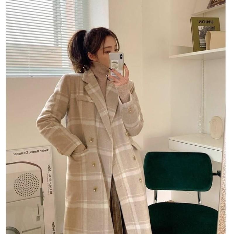 正韓首爾秋裝韓國毛呢長版大衣 西裝外套 長版外套